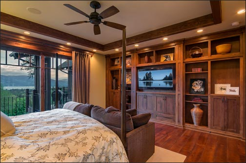 Master Bed View and Entertainment Center